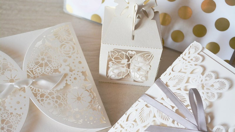 White paper wedding decorations