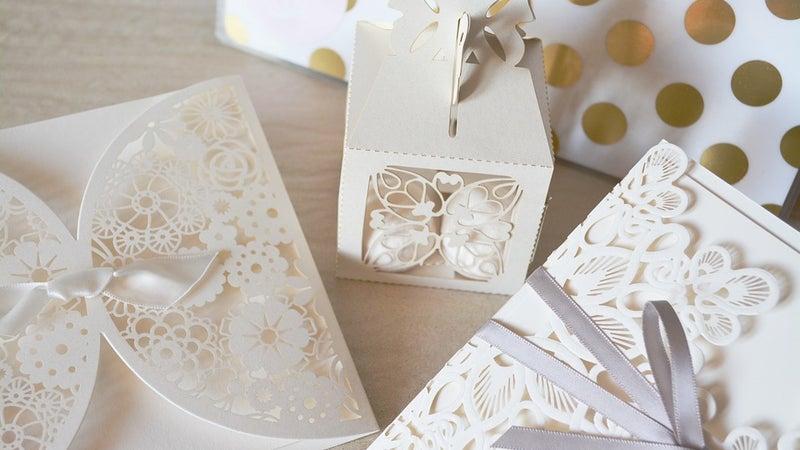 White paper wedding decorations