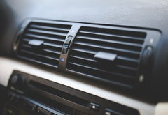 Vents on a car's heading and AC unit